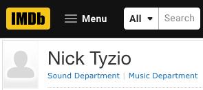 Tyz-Post-Audio-Nick-Tyzio-IMDb-page